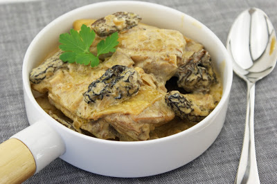 Fatted chicken with morels and yellow wine – by Afternoon tea